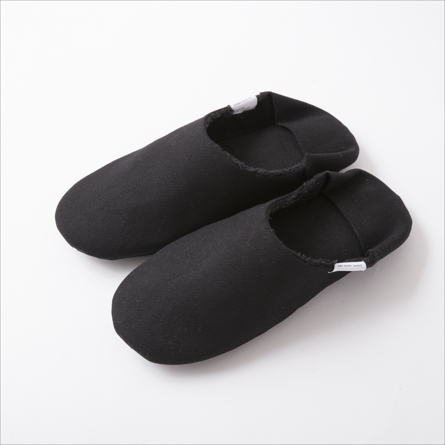 ABE HOME SHOES/帆布のバブーシュ ボア M